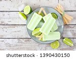lime yogurt popsicles  above... | Shutterstock . vector #1390430150
