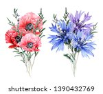 Watercolor Bouquet With Wild...