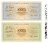 gift certificate   voucher...   Shutterstock .eps vector #139044374