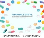 pharmaceutical medicine... | Shutterstock .eps vector #1390450049
