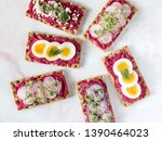 top down view of rye wafer...   Shutterstock . vector #1390464023