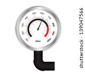 Special Manometer On White...