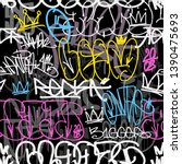 graffiti crown tags   new... | Shutterstock .eps vector #1390475693