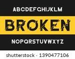 broken glitch font. modern sans ... | Shutterstock .eps vector #1390477106