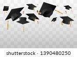 university or college caps fly... | Shutterstock .eps vector #1390480250