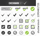 checkmark or tick mark... | Shutterstock .eps vector #1390481720