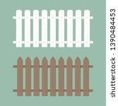 wooden fence illustration. farm ... | Shutterstock .eps vector #1390484453