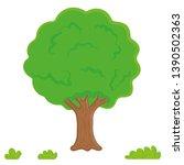 tree vector  leaves  garden.... | Shutterstock .eps vector #1390502363