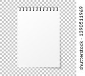 notebook mockup. note with... | Shutterstock .eps vector #1390511969