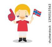 national sport team fan from... | Shutterstock .eps vector #1390515563