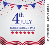 4th july american independence... | Shutterstock .eps vector #1390518566