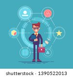 single point of contact and... | Shutterstock .eps vector #1390522013