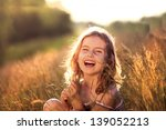 Adorable Little Girl Laughing...