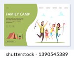 family camp landing page.... | Shutterstock .eps vector #1390545389