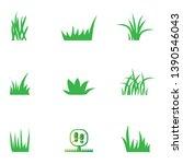green grass icons set  ...   Shutterstock .eps vector #1390546043