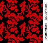 all over flower textile pattern | Shutterstock . vector #1390546286