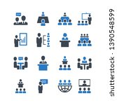 business conference vector icon ... | Shutterstock .eps vector #1390548599