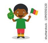 national sport team fan from...   Shutterstock .eps vector #1390550120