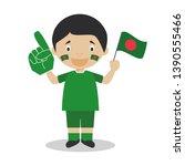 national sport team fan from...   Shutterstock .eps vector #1390555466