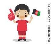 national sport team fan from...   Shutterstock .eps vector #1390555469