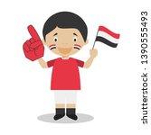 national sport team fan from...   Shutterstock .eps vector #1390555493