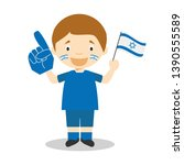 national sport team fan from...   Shutterstock .eps vector #1390555589
