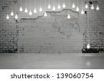 old brick wall and bulbs | Shutterstock . vector #139060754