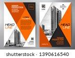 business brochure. flyer design.... | Shutterstock .eps vector #1390616540