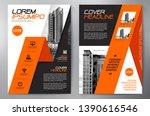 business brochure. flyer design.... | Shutterstock .eps vector #1390616546