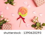 meringue lollipop flower...   Shutterstock . vector #1390620293
