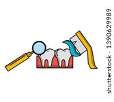 dental care health and hygiene | Shutterstock .eps vector #1390629989