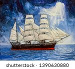 A Big Ship With Open Sails...