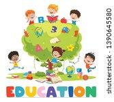 vector illustration of children ... | Shutterstock .eps vector #1390645580