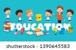 vector illustration of children ... | Shutterstock .eps vector #1390645583
