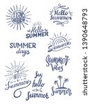 summer season themed hand... | Shutterstock .eps vector #1390648793