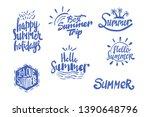 summer season themed hand... | Shutterstock .eps vector #1390648796