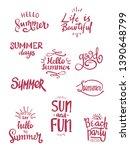 summer season themed hand...   Shutterstock .eps vector #1390648799