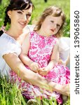 little girl and mother in the... | Shutterstock . vector #139065860