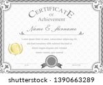 certificate or diploma vintage... | Shutterstock .eps vector #1390663289