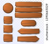 vector wooden guidepost  round  ...
