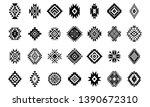 aztec vector elements. set of... | Shutterstock .eps vector #1390672310