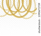 gold chain isolated. vector... | Shutterstock .eps vector #1390672739