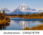 Mt. Moran At Oxbow Band In...