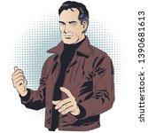 stock illustration. casual...   Shutterstock .eps vector #1390681613