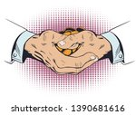 stock illustration. hands with...   Shutterstock .eps vector #1390681616