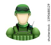 human template soldier with no... | Shutterstock . vector #1390688129
