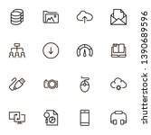 cloud computing icon set.... | Shutterstock .eps vector #1390689596