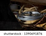 accessories for camping and... | Shutterstock . vector #1390691876