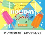 summer holiday sale banner... | Shutterstock .eps vector #1390693796