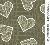 seamless pattern with crocodile ... | Shutterstock .eps vector #1390700330